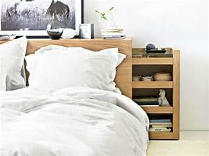 Ikea Lit Deux Places : tete de lit avec rangement integre ~ Teatrodelosmanantiales.com Idées de Décoration