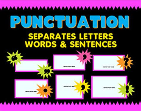 english poster punctuation sign language arts