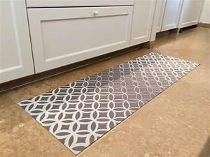 tapis de cuisine decorative impression 06 ehome With tapis de sol cuisine moderne