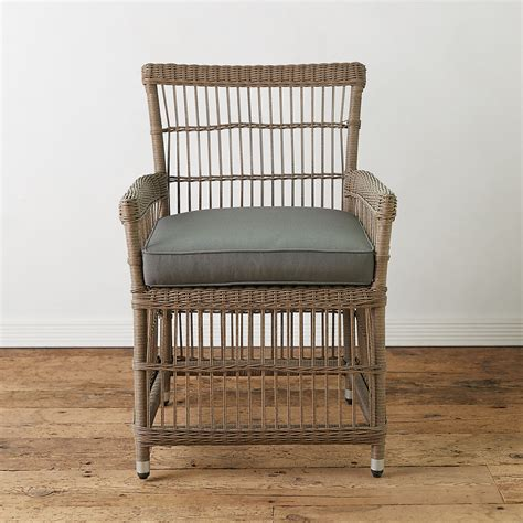 trellis weave  weather wicker dining chair terrain