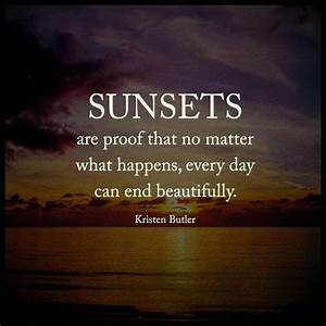 sunsets are pro... Winter Sunsets Quotes