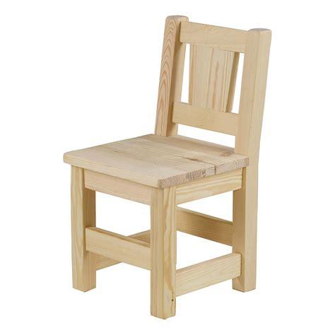 plan de chaise en bois chaise en pin massif brut lot de deux mooviin