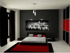 Red Black Grey White Bedroom by Black And Grey Bedroom Ideas
