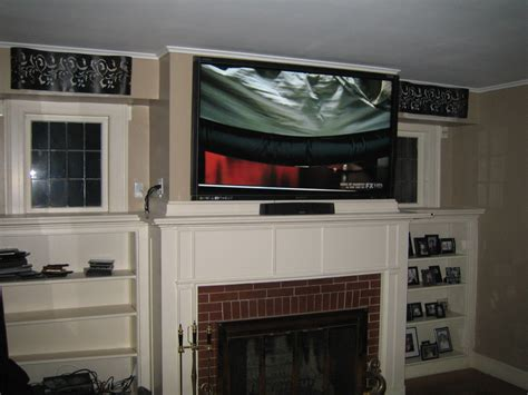 Cheshire Ct Mount Tv Above Fireplace Home Theater