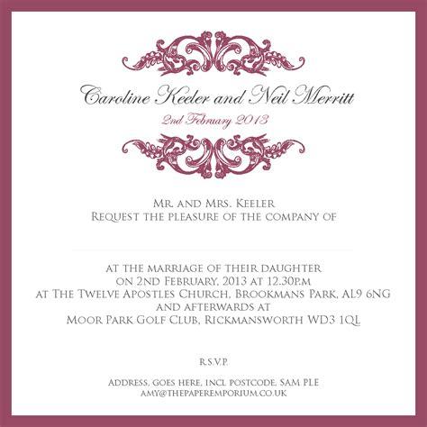ceremony invitation templates