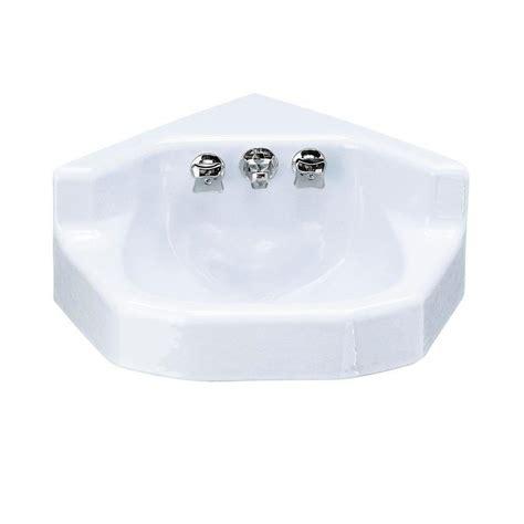 wall mount bathroom sink faucet kohler marston wall mounted cast iron bathroom sink with 24532