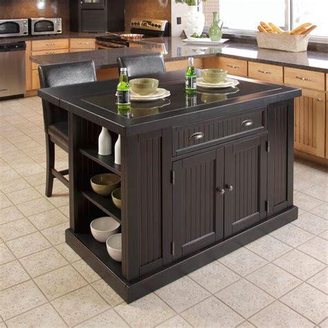 distressed island kitchen nantucket distressed black wood finish storage furniture