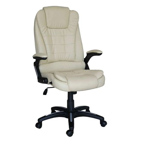 luxury reclining executive office desk chair faux