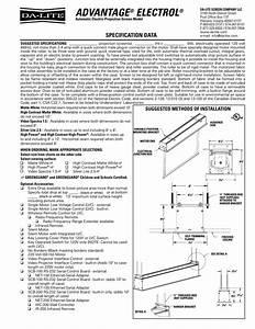 Da Lite Motorized Screen Wiring Diagram Collection