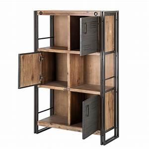 Bücherregal Metall Holz : regalsystem holz mit t ren ~ Sanjose-hotels-ca.com Haus und Dekorationen