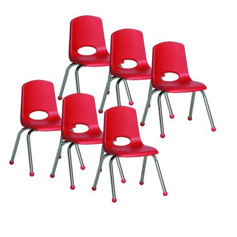 ecr4kids school stack chair with chrome legs glides