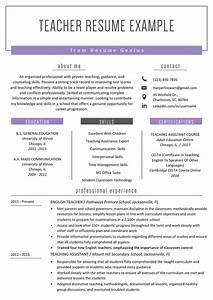 Teacher Resume Samples  U0026 Writing Guide