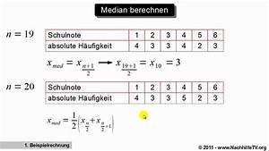 Quantil Berechnen Beispiel : median 0 5 quantil berechnen mit absoluten h ufigkeiten youtube ~ Themetempest.com Abrechnung