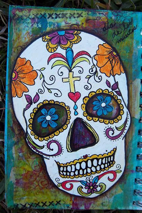 Colorful Sugar Skull Art