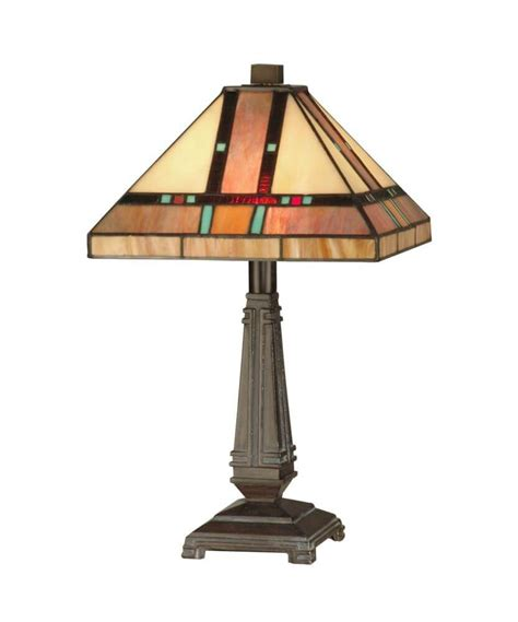 dale tiffany tt  light hyde park mission table lamp