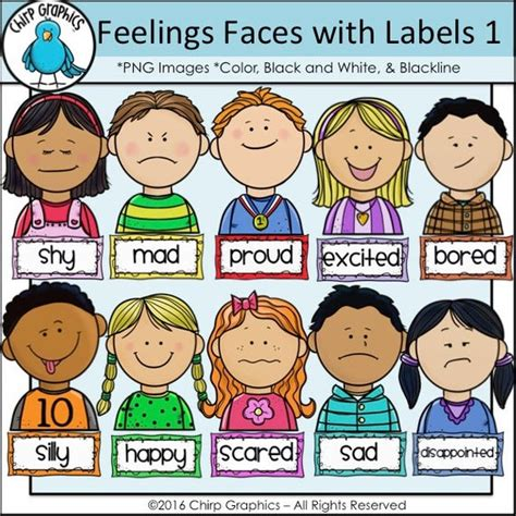 children feelings faces and labels clip set 1 chirp 538 | il 570xN.1036082530 6tw0