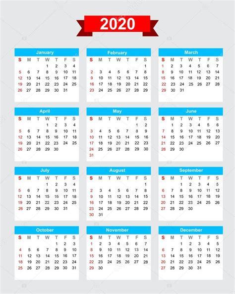 semana calendario comeca domingo vetor de stock
