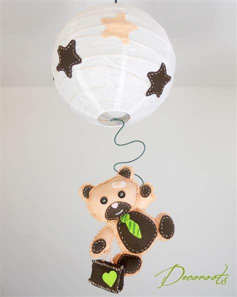 abat jour chambre garcon lustre suspension enfant bébé l 39 ours tominette enfant