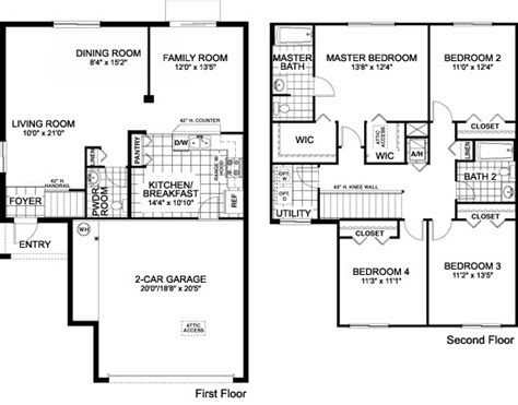 family home floor plans awesome single family house plans 11 one single