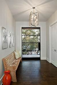 Foyer, Lighting, Ideas, Entry, Traditional, With, Transom, Window, Manufactured, Wood, Wall, Mirrors