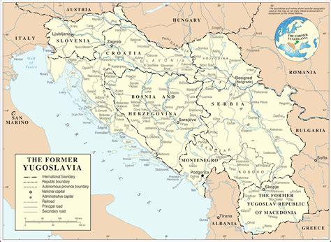 maps map yugoslavia