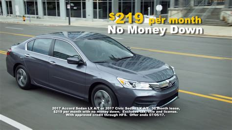 Accord Lease Deals by Honda Accord Lease Deals 2017 Lamoureph