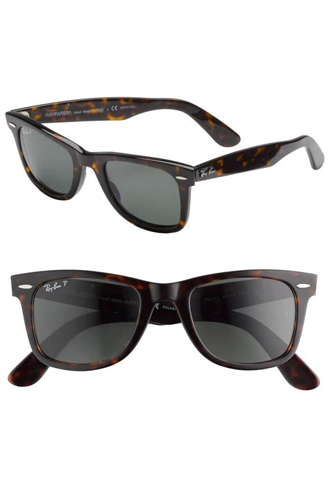 Ray-ban Classic Polarized Wayfarer Sunglasses in Brown for