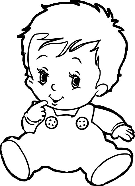 baby boy coloring pages wecoloringpagecom