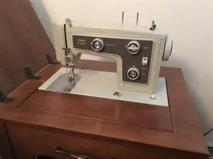 sears kenmore sewing machine in solid wood cabinet east mobile