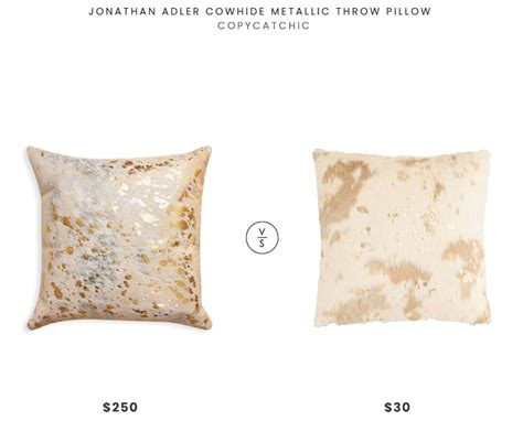 Metallic Cowhide Pillow by Daily Find Jonathan Adler Cowhide Metallic Throw Pillow