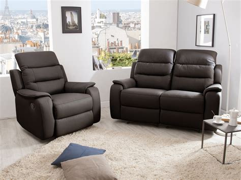 canape relaxation ensemble canapé 2 relax manuel 2 places fauteuil relax