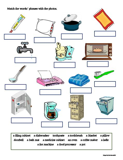 Home And Office Vocabulary