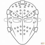 Mask Goalie Coloring Pages Template Hockey Printable Supercoloring Masks Pass Halloween Paper Drawing Mrs Please Drama Books Styles Categories sketch template