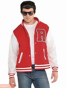 mens ladies 50s high school fancy dress letterman jacket With the letter jacket man