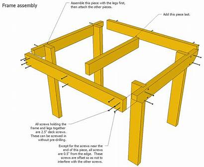 Table Plans Patio Shed Sketchup Frame Plan