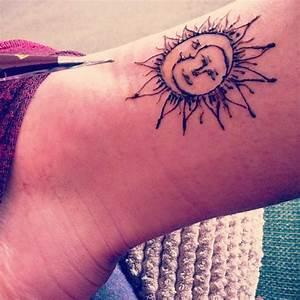 The 25 Best Surf Tattoo Ideas On Pinterest Tiny Sun Tattoo Sun Henna