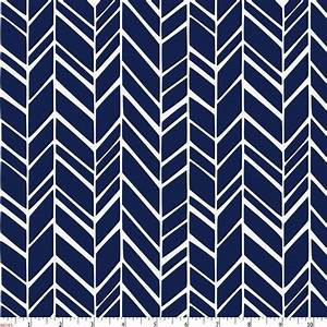 Windsor Navy Herringbone Fabric by the Yard Navy Fabric