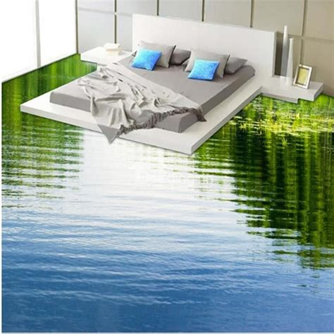 3d Epoxy Wallpapers by Calm Limpid Lake Print Design Home Decorative Waterproof