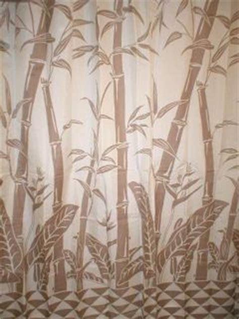 tropical hawaiian barkcloth fabric shower curtain banana