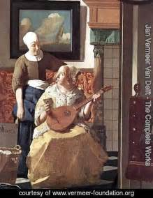 the love letter vermeer jan vermeer delft the complete works the 25206 | The Love Letter Detail 1 1667 68