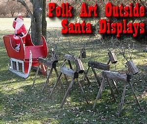 Folk Art Outside Santa Displays from Family Christmas line