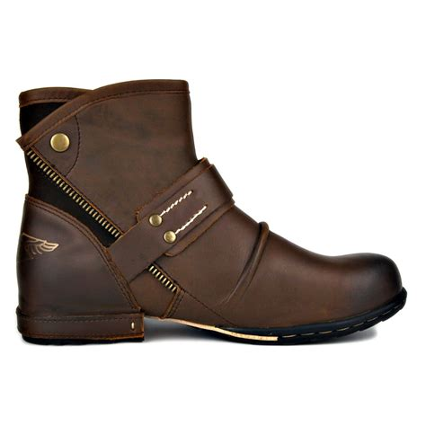 Genuine Cowhide by Genuine Cowhide Leather Martin Boots