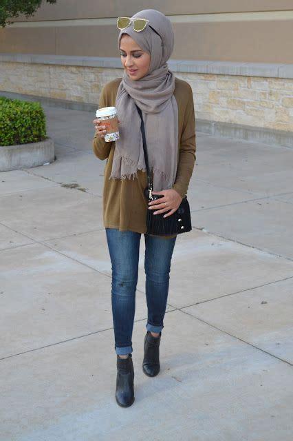style hijab memakai jeans