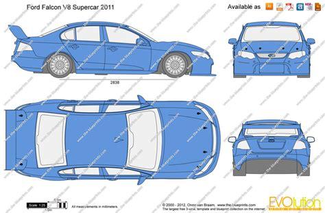 supercar drawing ford falcon v8 supercar vector drawing