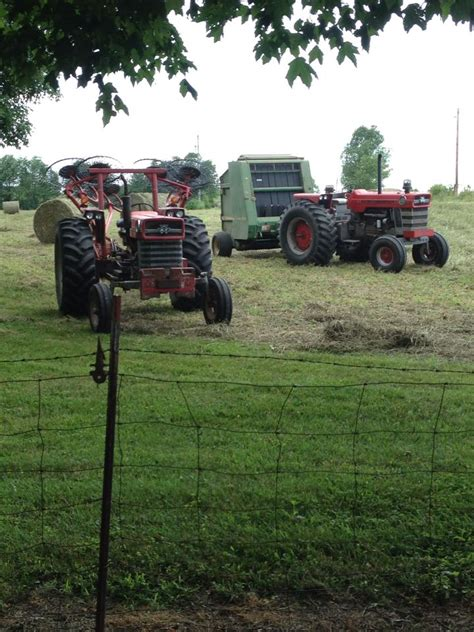 1100 and 175 in the hay field | Ford tractors, Massey ...