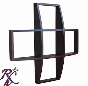 Solid wooden designer wall-hanging showcase online in