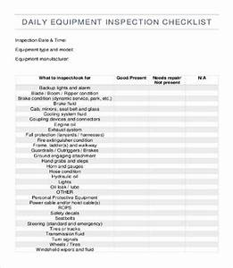 equipment checklist template 12 free word pdf With construction equipment list template