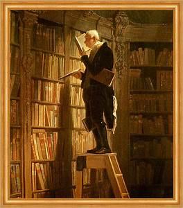 Der Bücherwurm Carl Spitzweg Bibliothek Bibliothekar Lesen