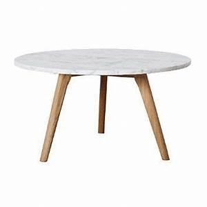 Table Basse Ronde Marbre : table basse ronde en marbre blanc et bois fiord home deco pinterest ~ Teatrodelosmanantiales.com Idées de Décoration
