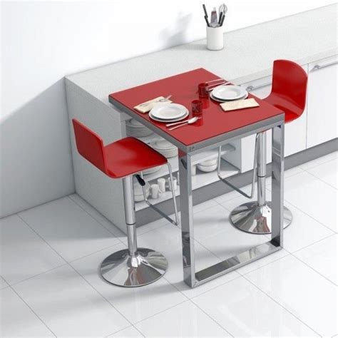 table pour cuisine table de cuisine d 39 appoint en verre fixation plan de